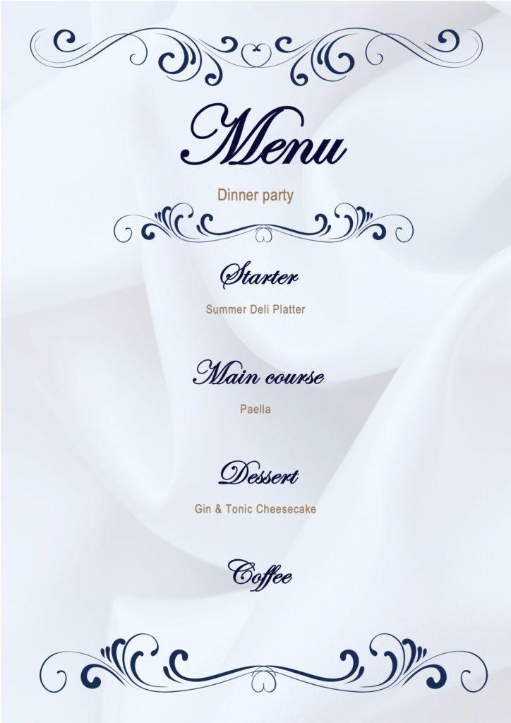 June Dinner Party Menu