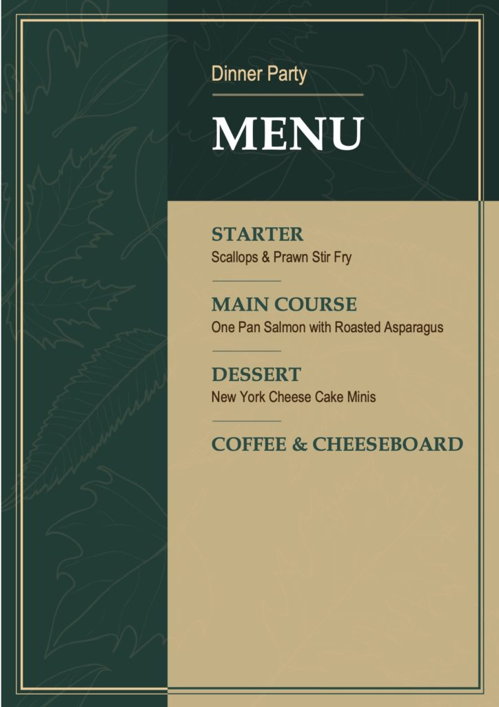 March Dinner Party Menu