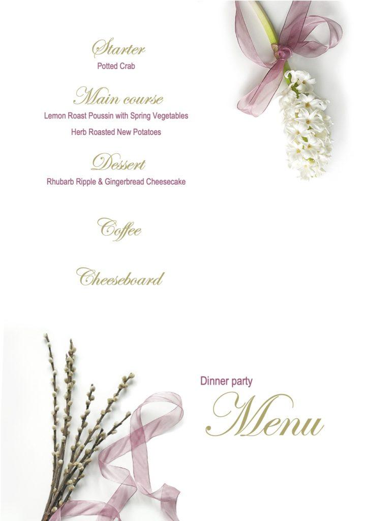 May Dinner Party Menu