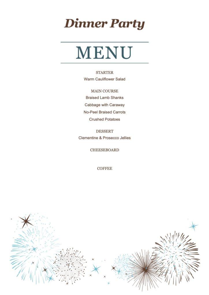 November Dinner Party Menu